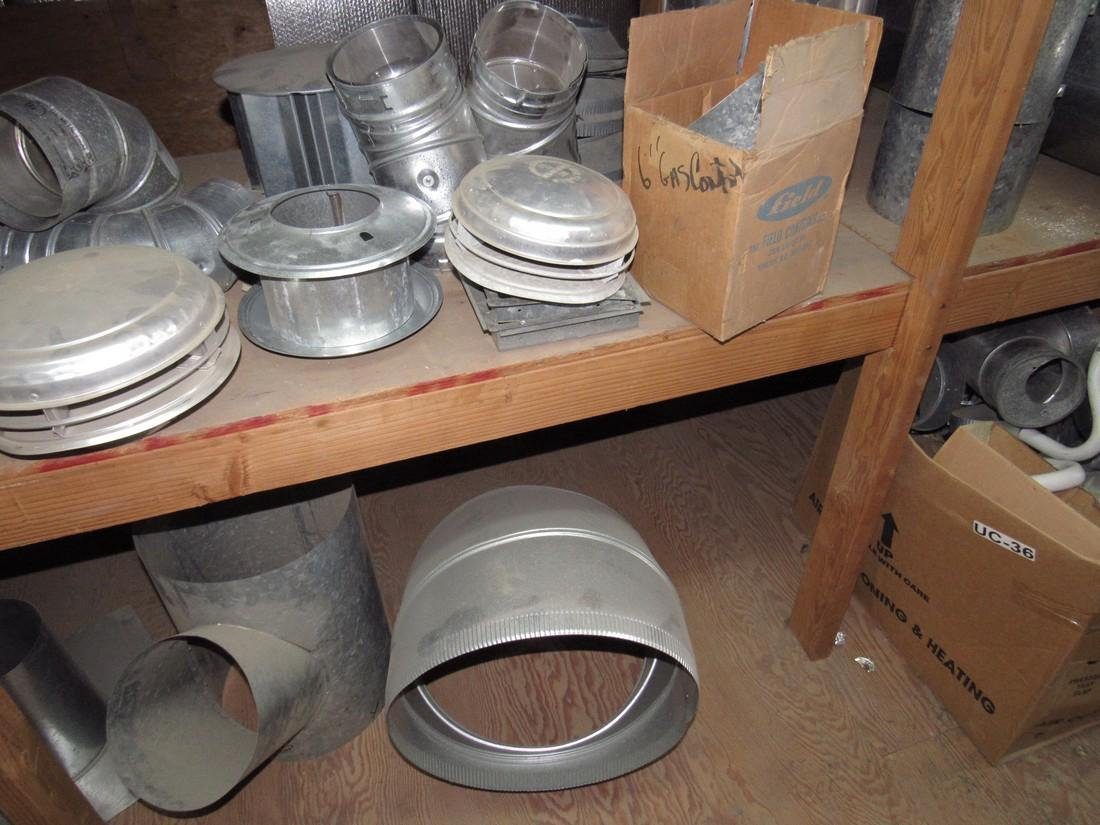 Duct Work Fittings Elbows Shelf Contents Lot - 5
