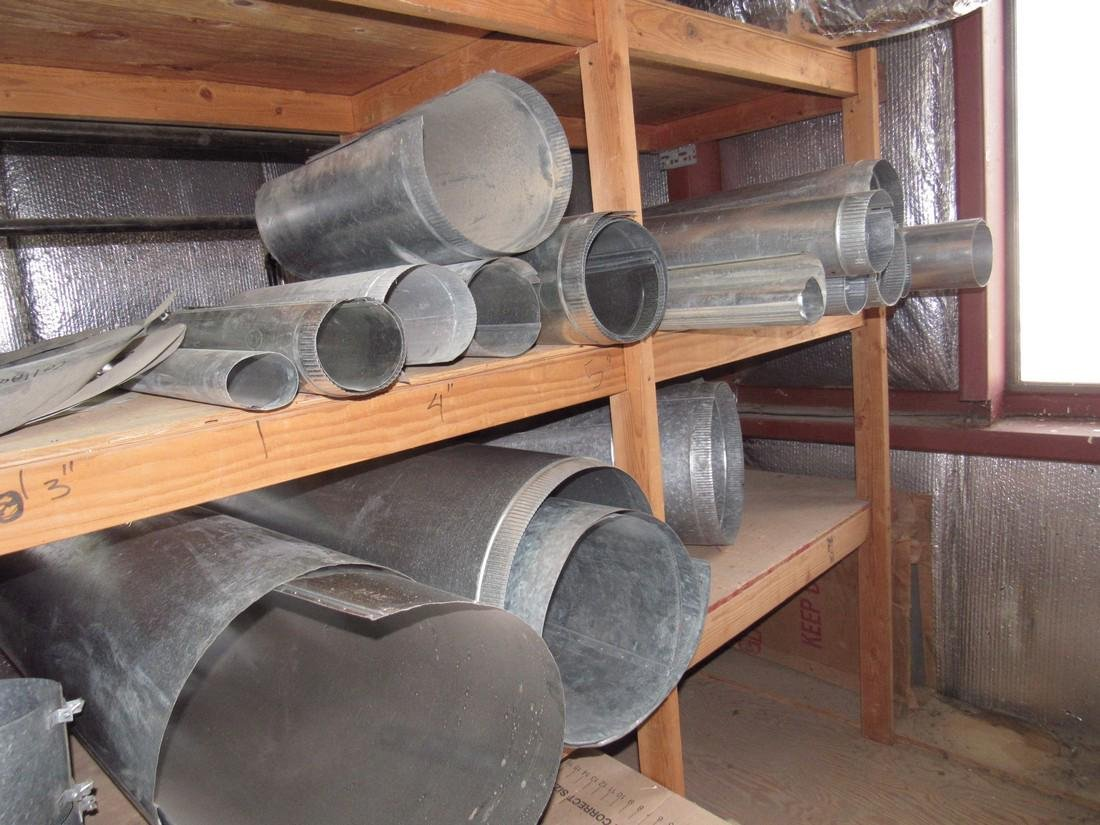 Duct Work Fittings Elbows Shelf Contents Lot - 6