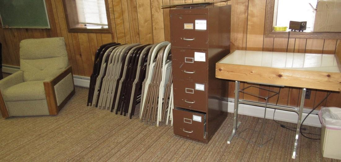 File Cabinet Folding Chairs & Table