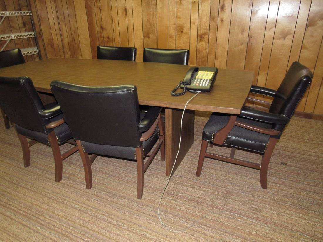 Vintage Bevis Conference Table & 6 Chairs - 2