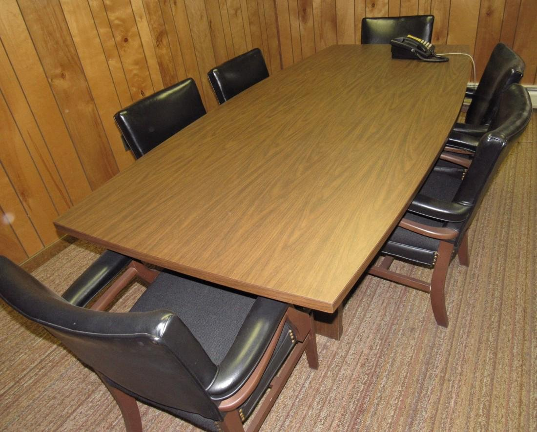 Vintage Bevis Conference Table & 6 Chairs - 3