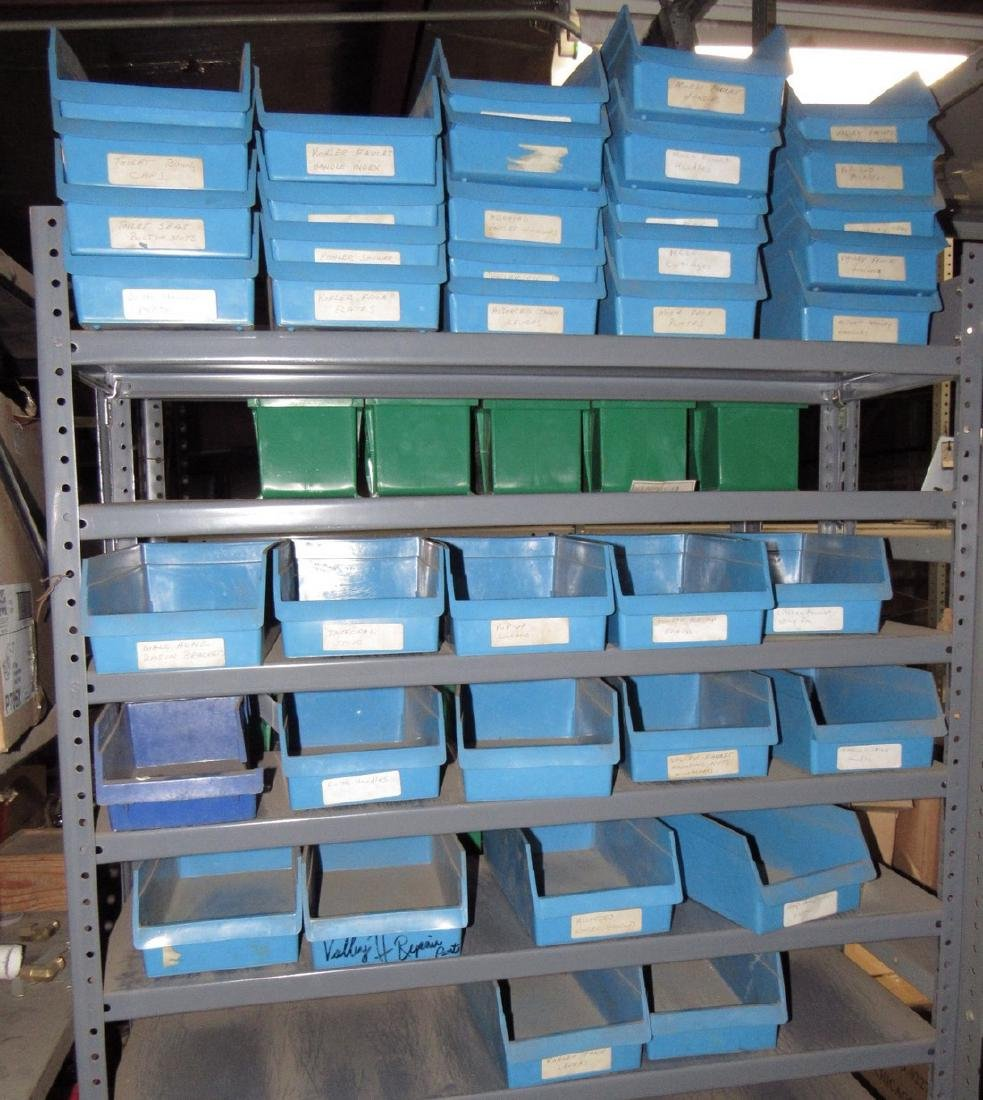Blue Plastic Parts Bins
