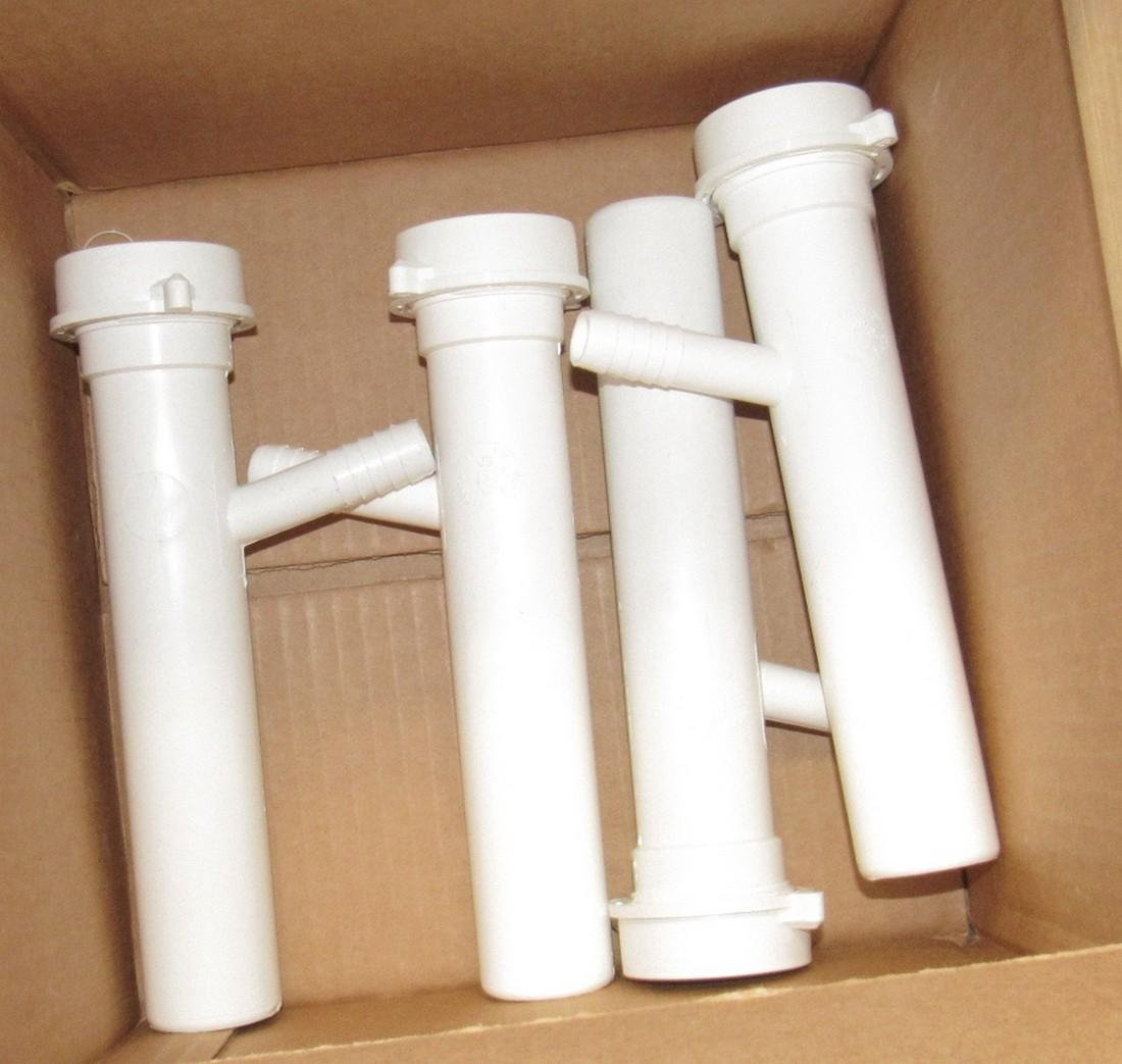 "1 1/2"" PVC Pipe Curtain Rod Holders Lot - 4"