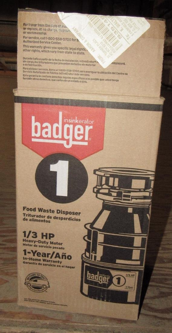 Badger 1/3 hp Food Waste Disposal