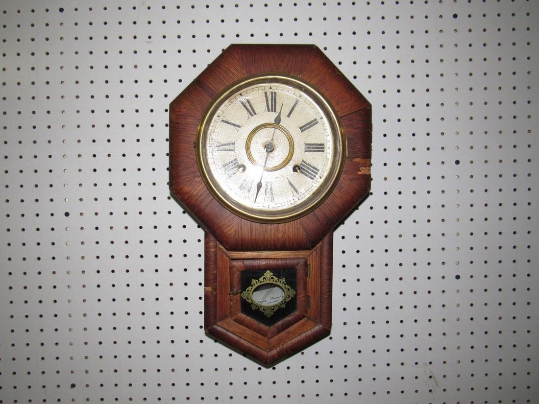 Ansonia Short Drop Box Regulator Clock
