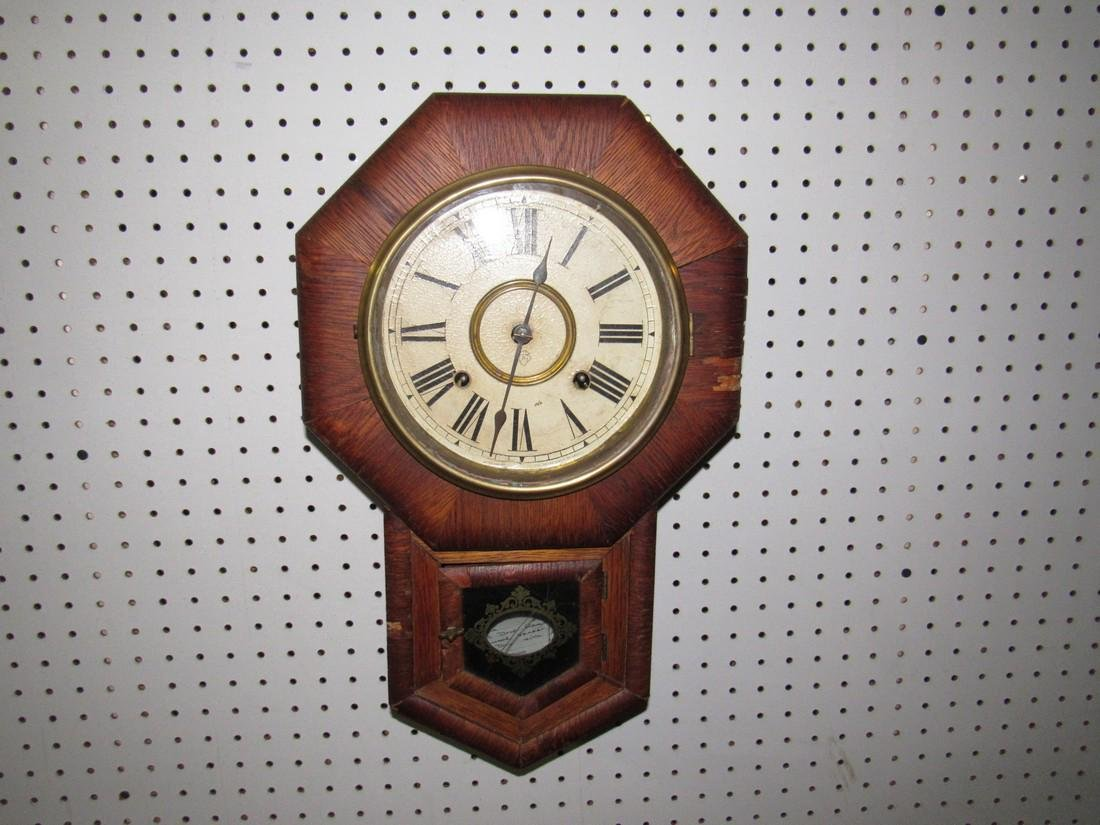 Ansonia Short Drop Box Regulator Clock - 2