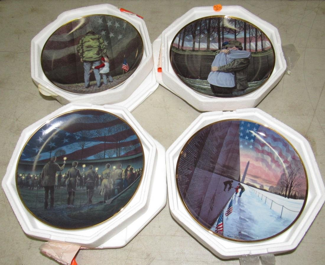 Set of 4 Vietnam Franklin Mint Collector Plates - 2