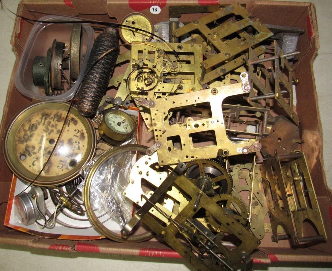 Clock Movements Cases Parts Lot