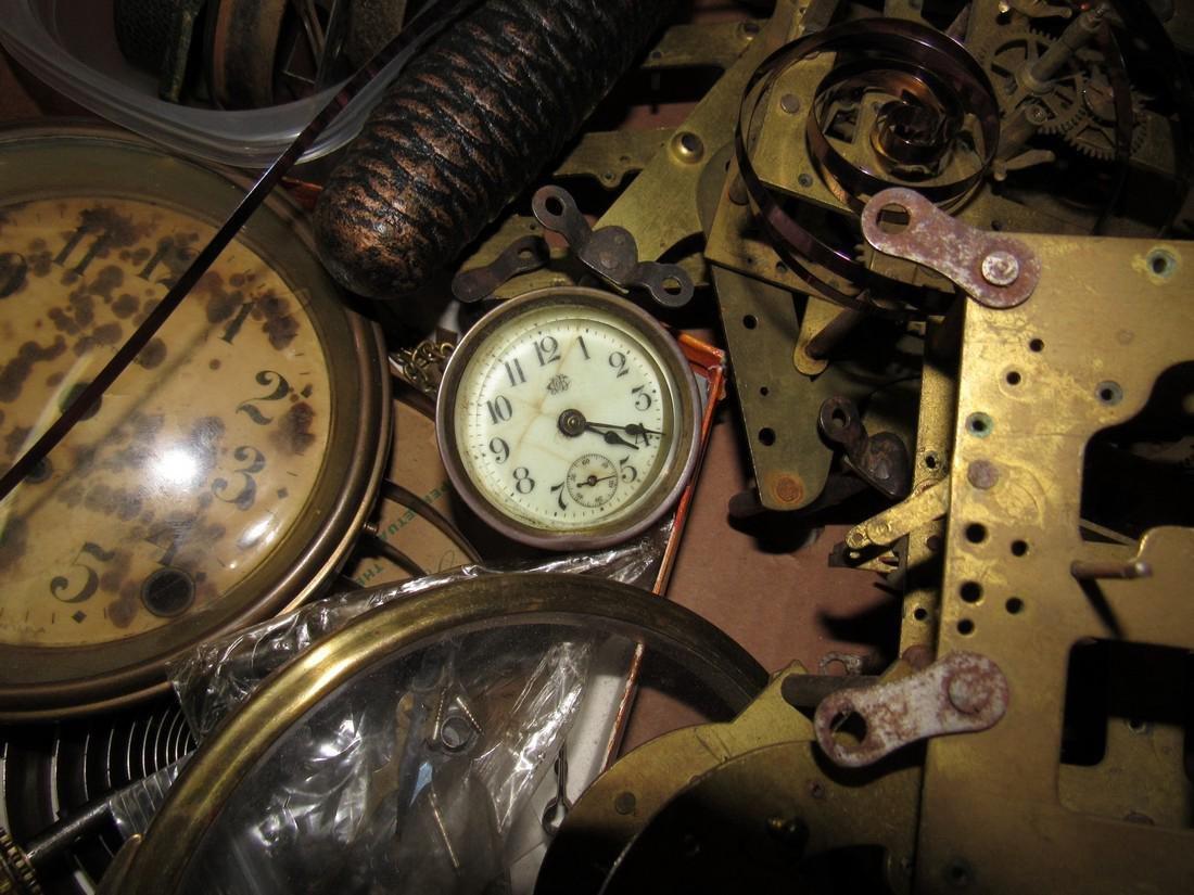 Clock Movements Cases Parts Lot - 2