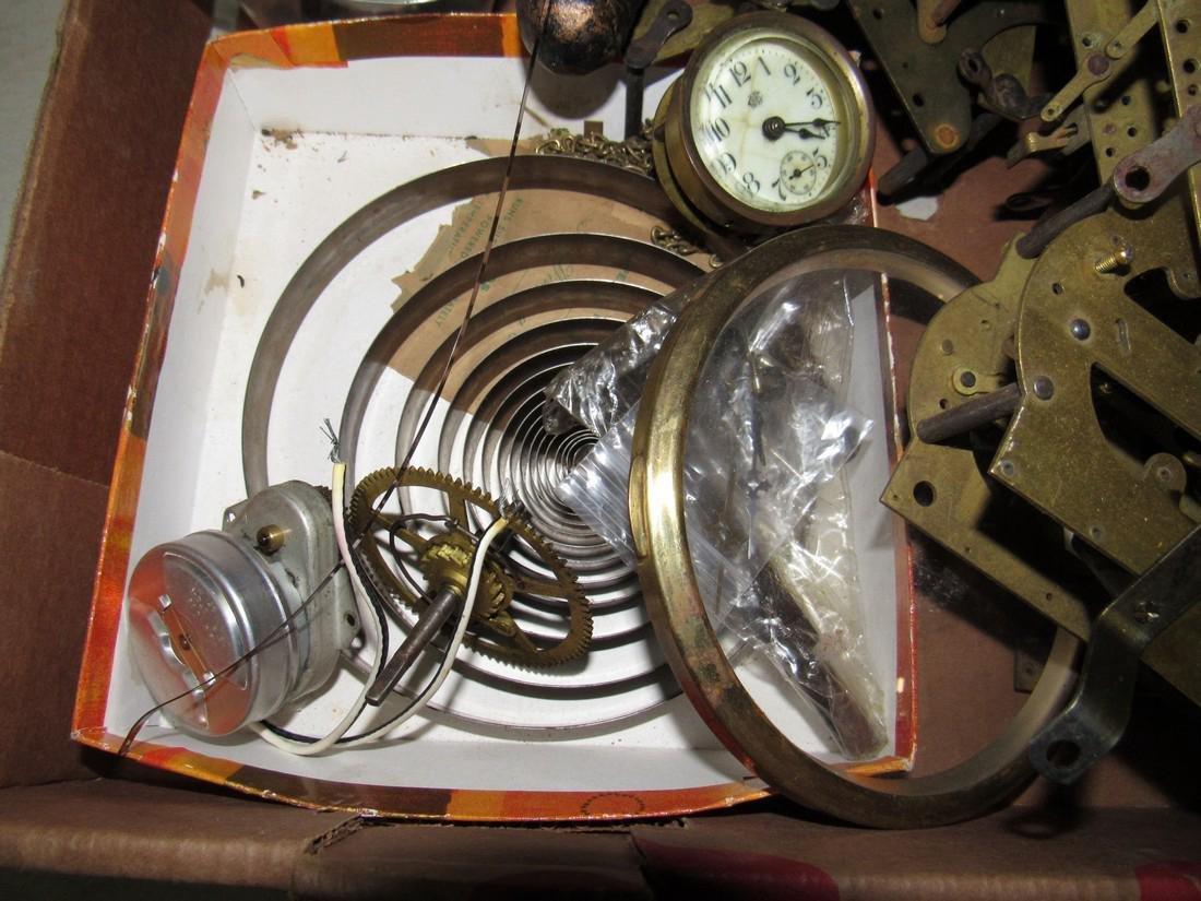 Clock Movements Cases Parts Lot - 3