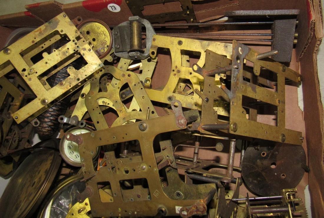 Clock Movements Cases Parts Lot - 5