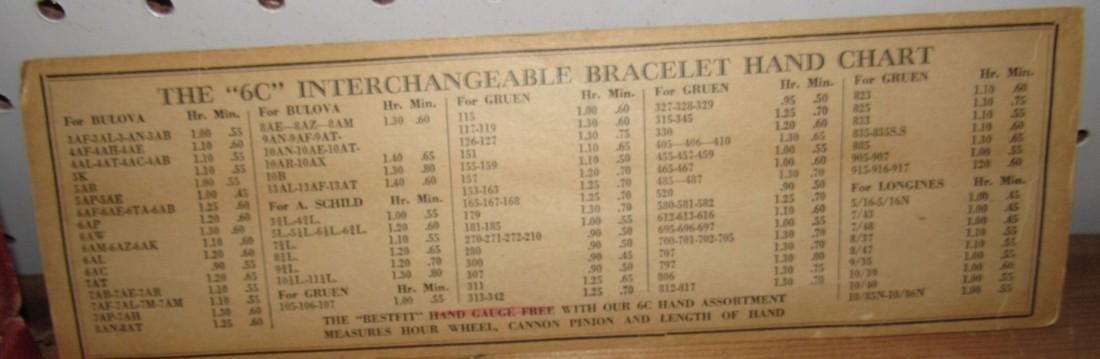 Bestfit Metric Gauged Wrist Watch Hands Parts - 3