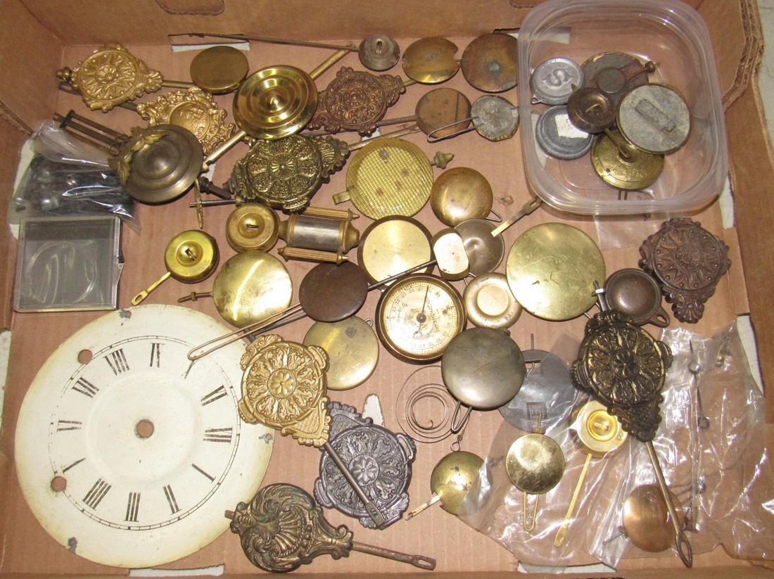 Clock Pendulums Lot