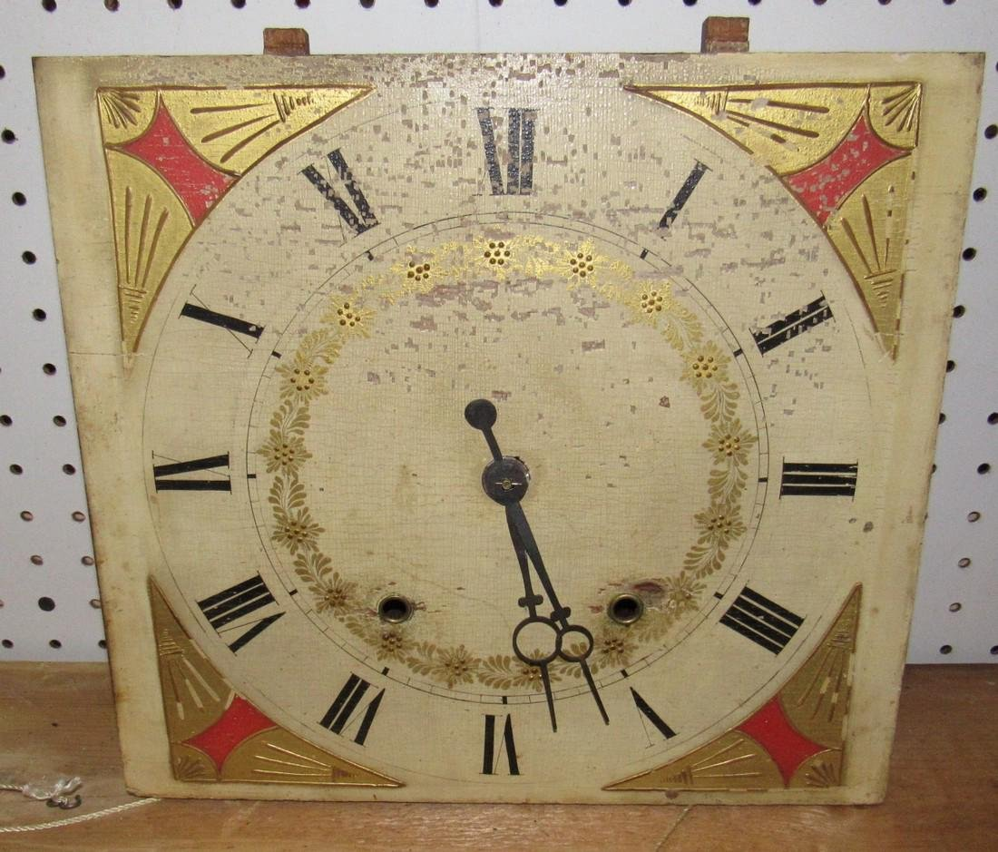 Early Wooden Movement Clockworks Clock