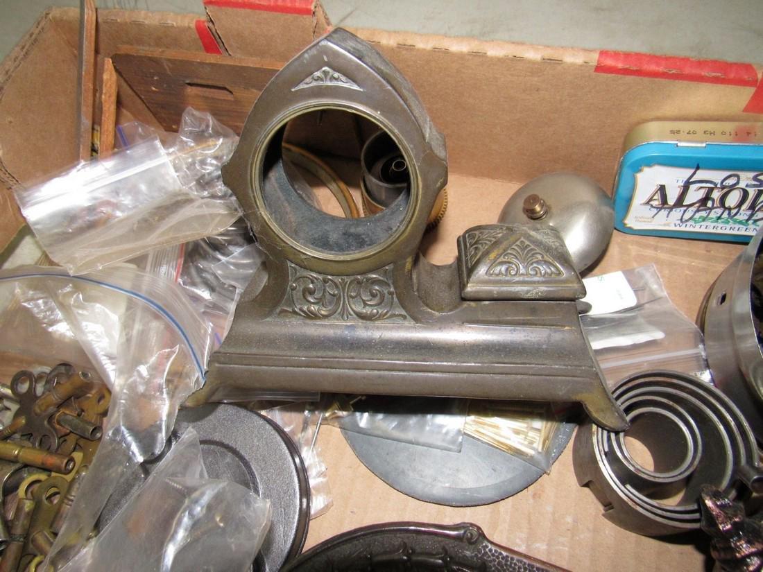 Clock Cases Movements Keys Weights Parts Lot - 3