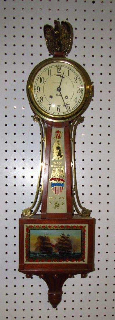 Bailey Banks & Biddle Banjo Clock Reverse Painted - 2
