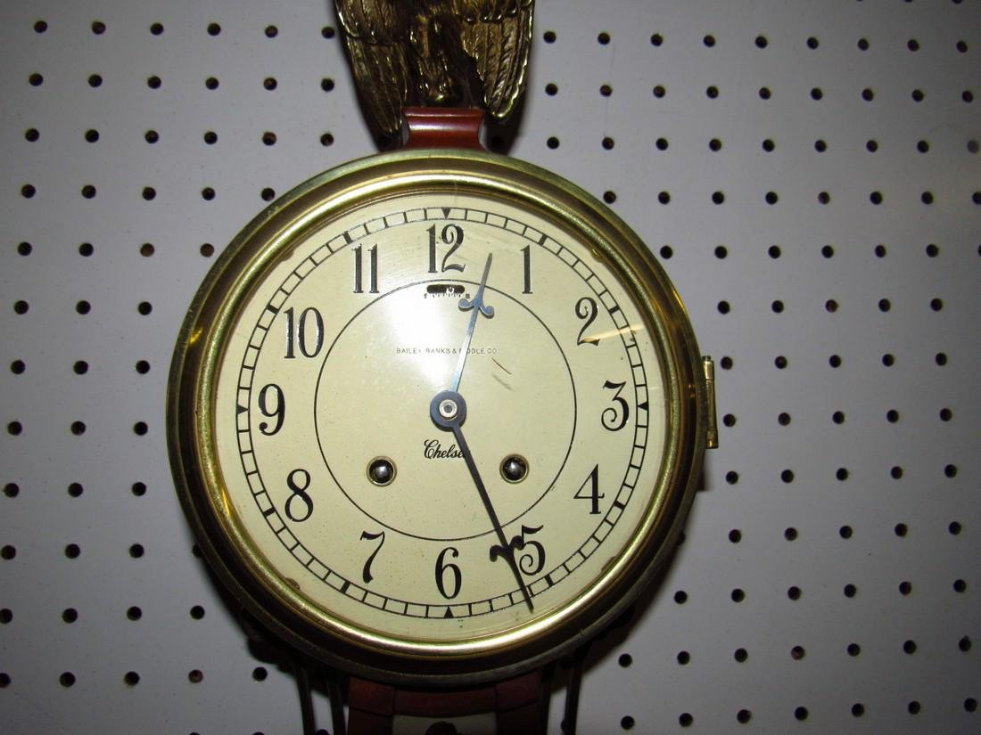 Bailey Banks & Biddle Banjo Clock Reverse Painted - 5