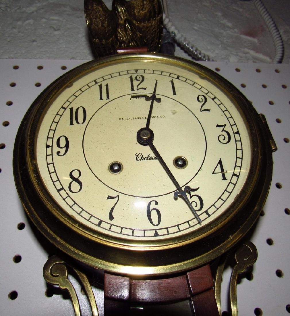 Bailey Banks & Biddle Banjo Clock Reverse Painted - 7