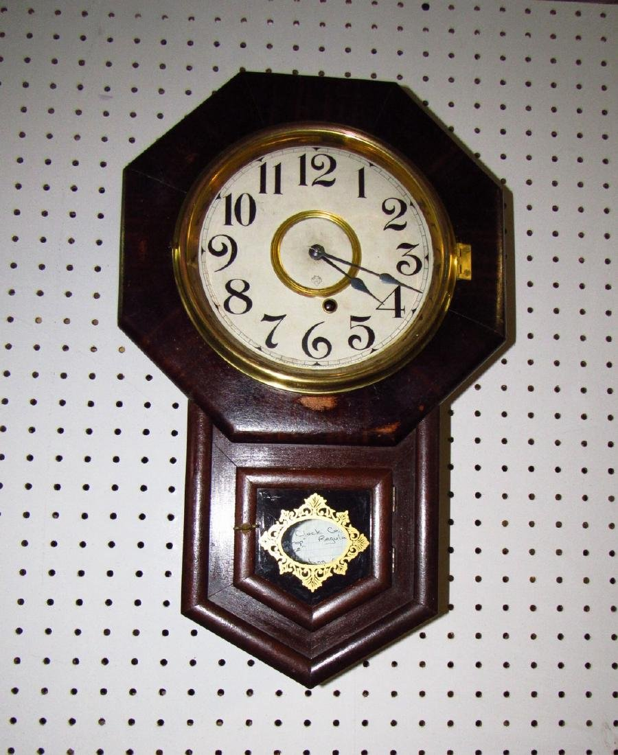 Ansonia Short Drop Regulator Clock Rosewood