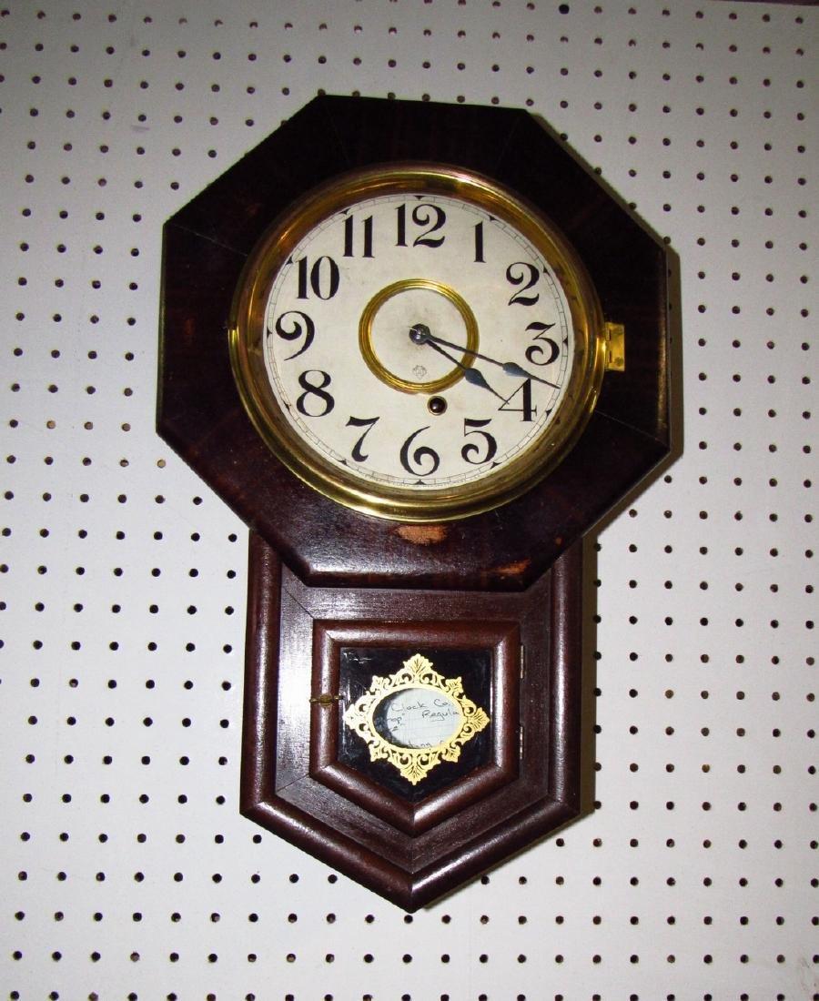 Ansonia Short Drop Regulator Clock Rosewood