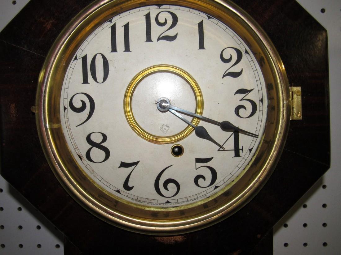Ansonia Short Drop Regulator Clock Rosewood - 2