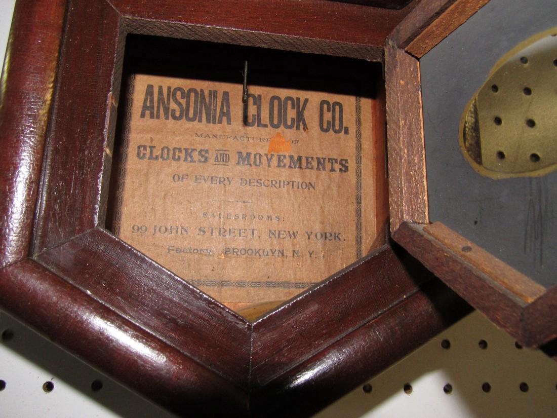 Ansonia Short Drop Regulator Clock Rosewood - 3