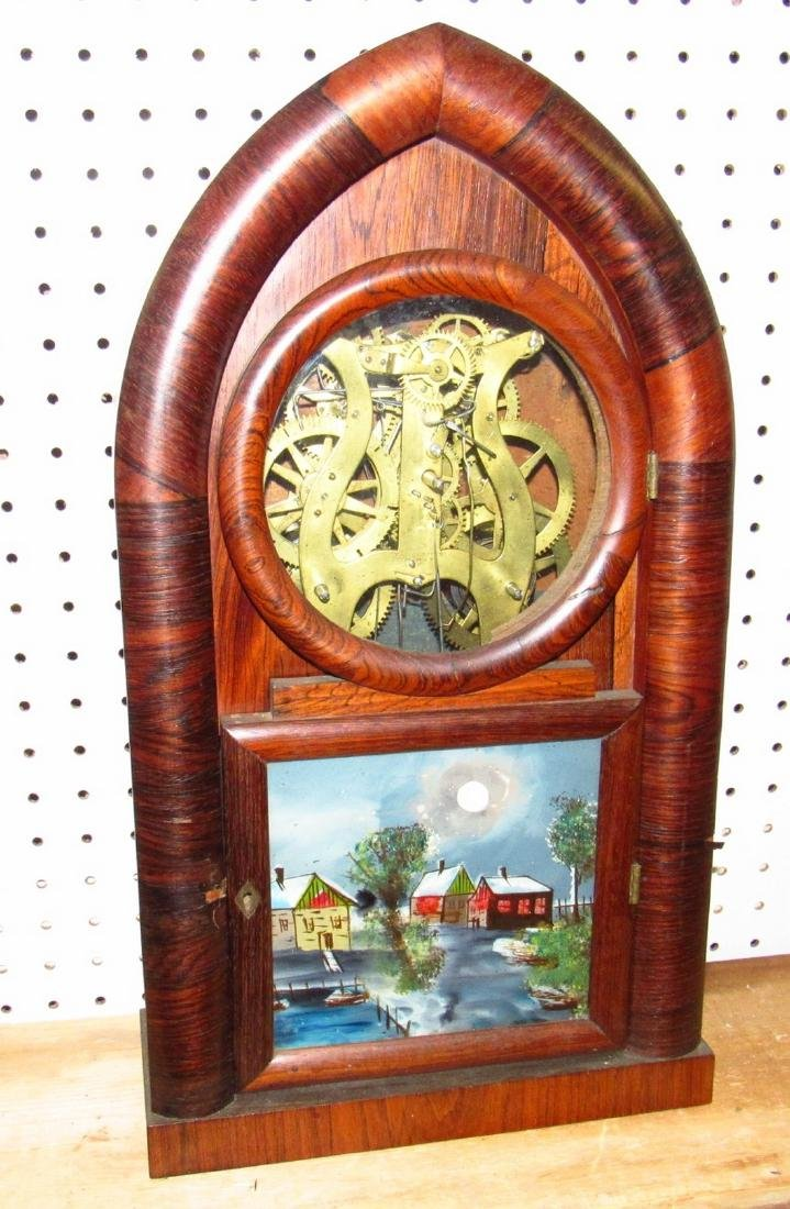 Doric 8 Day Ingraham Mantle Clock Rosewood