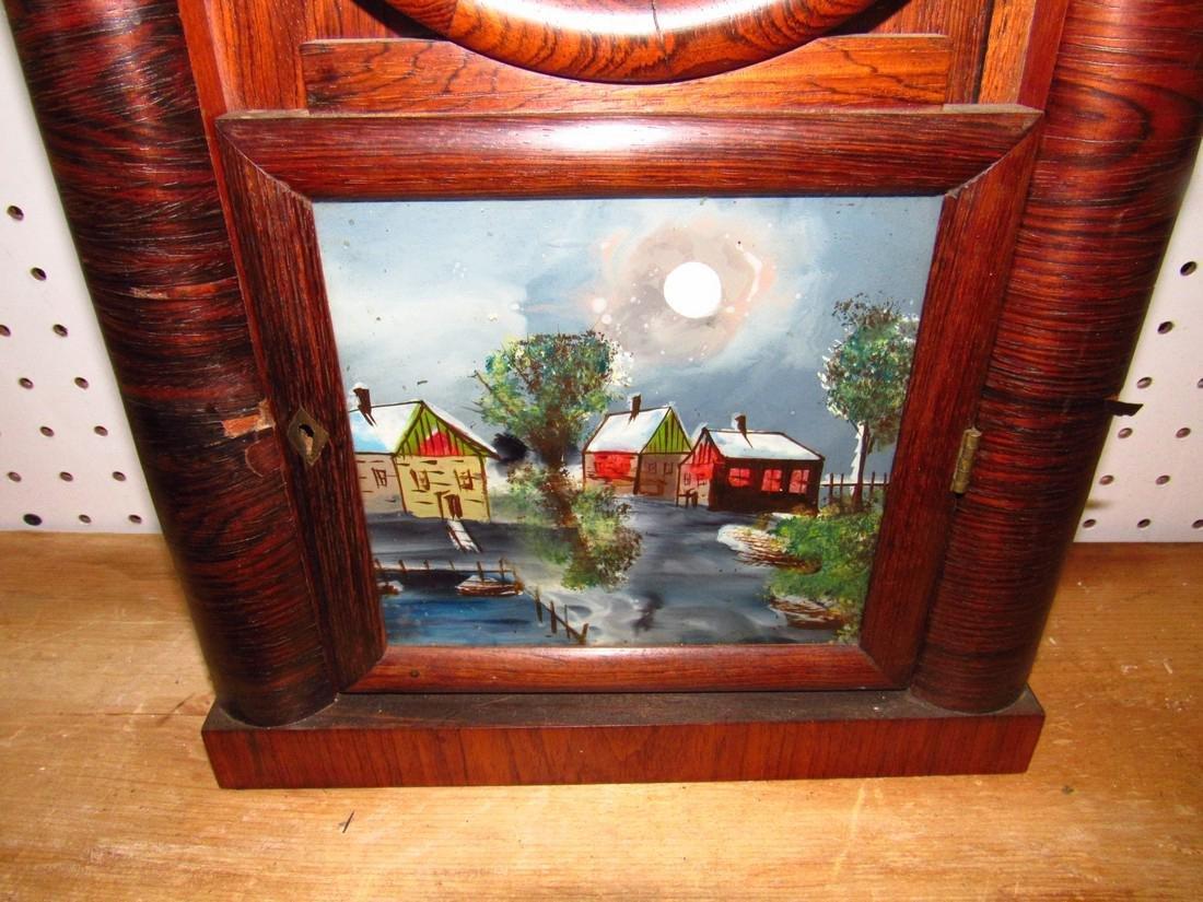 Doric 8 Day Ingraham Mantle Clock Rosewood - 2
