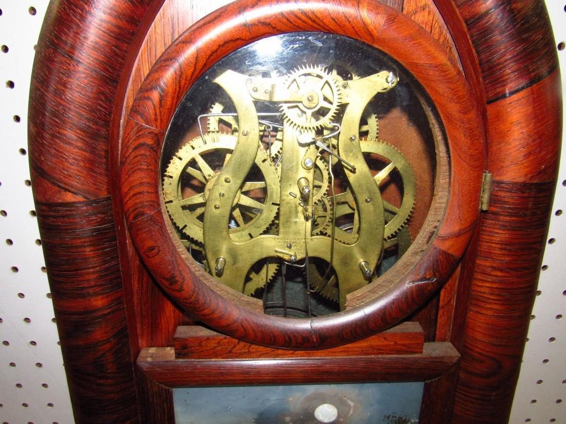 Doric 8 Day Ingraham Mantle Clock Rosewood - 3