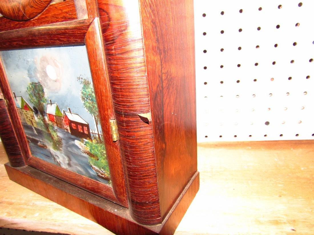 Doric 8 Day Ingraham Mantle Clock Rosewood - 5