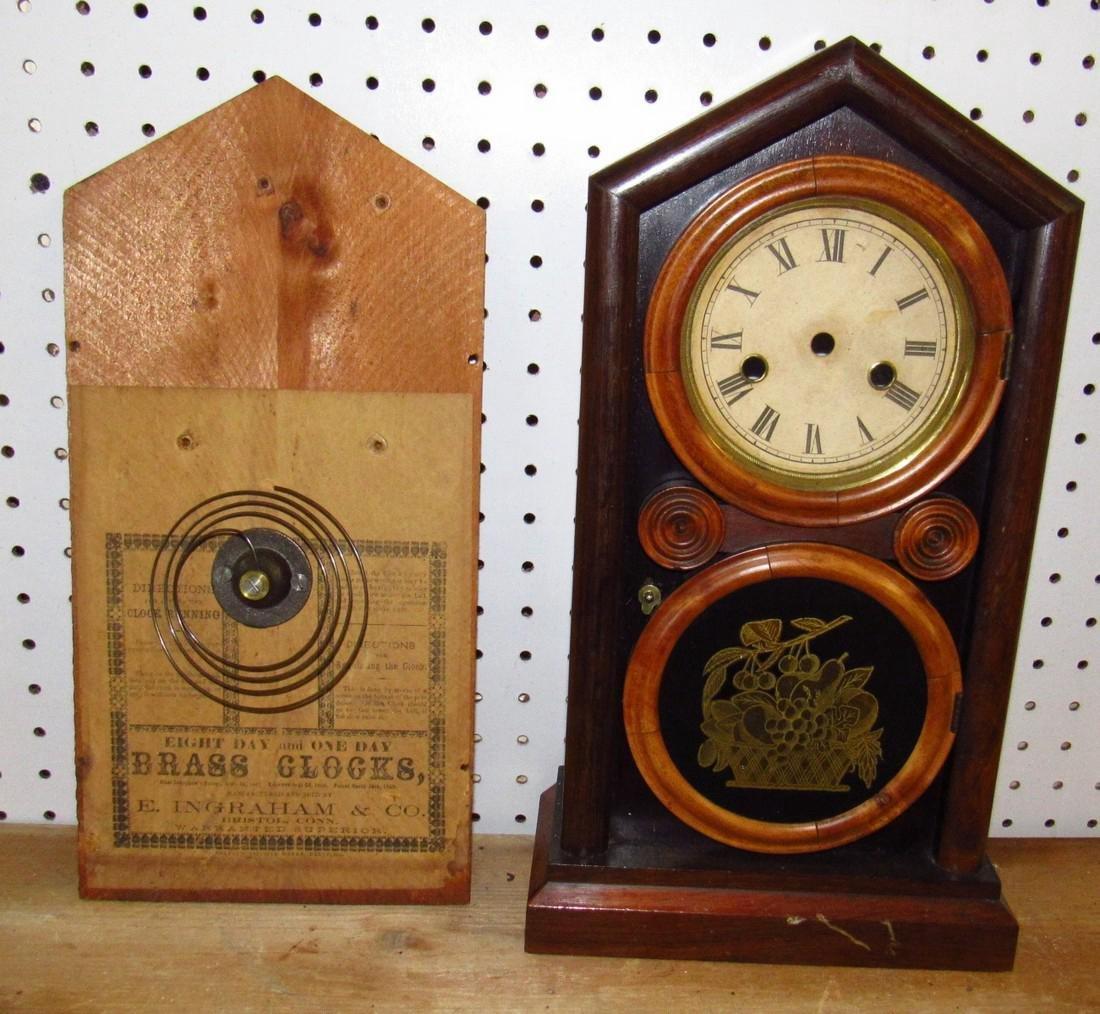 Ingraham 8 Day Cathedral Clock Case
