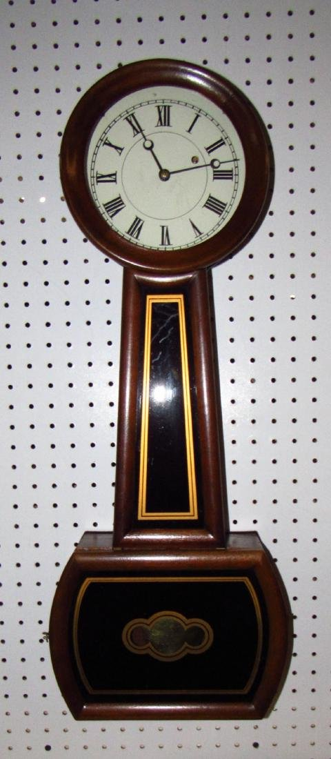 E. Howard #5 Banjo Clock 8 Day time Weight Driven
