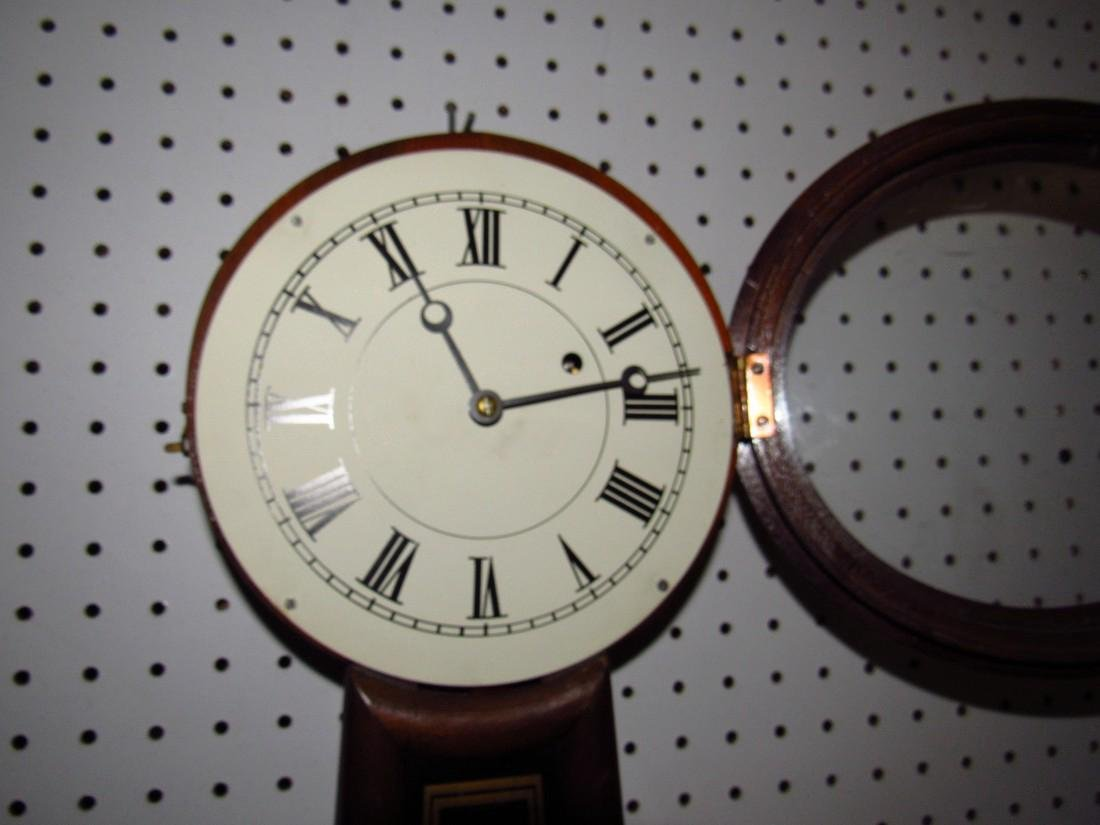 E. Howard #5 Banjo Clock 8 Day time Weight Driven - 3