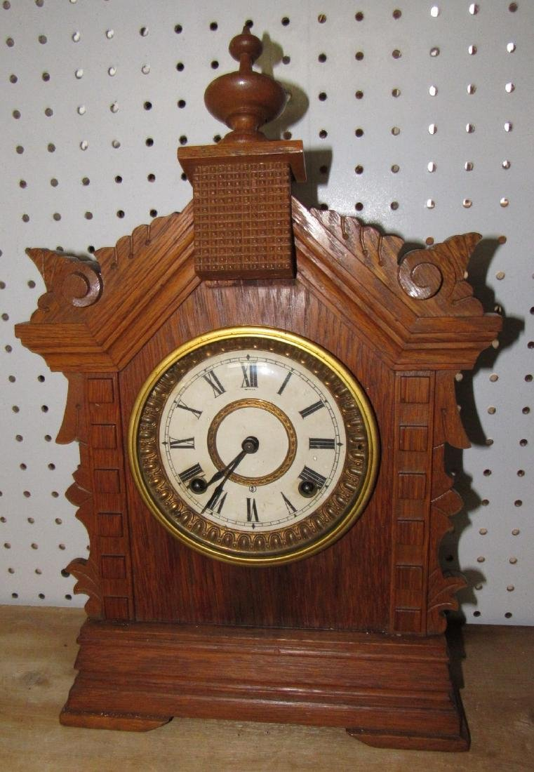 Oak Ansonia Clock Co. Toronto Cabinet Series Clock
