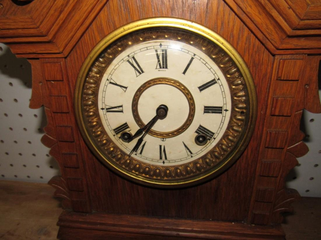 Oak Ansonia Clock Co. Toronto Cabinet Series Clock - 2