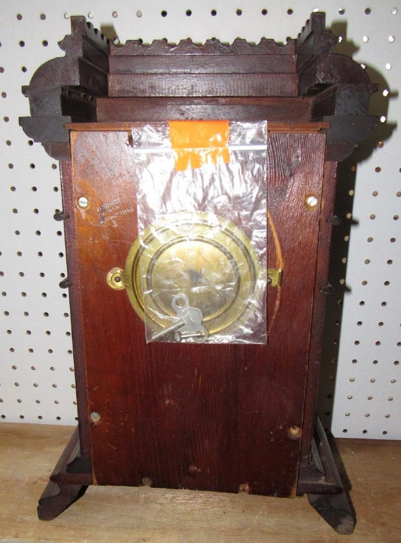 Welch Spring Mantle Clock w/ Porcelain Face - 3