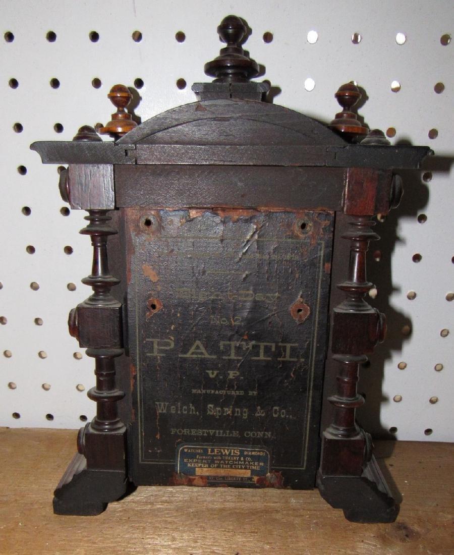 Eight Day Welch Spring Patti Clock Case No. 2 - 5