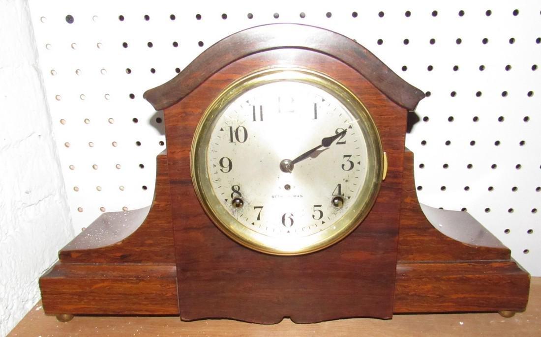 Seth Thomas Mohogany Admintine Finish Clock