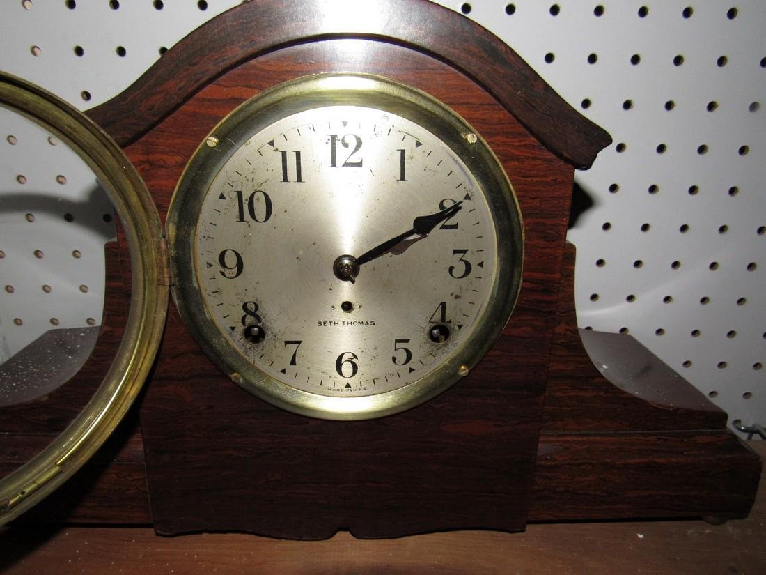 Seth Thomas Mohogany Admintine Finish Clock - 2