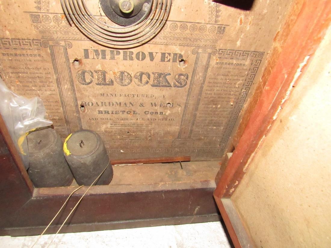 Boardman & Wells Ogee Clock w/ Wood Movements - 4