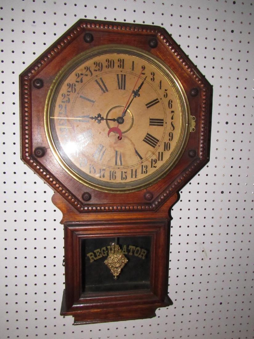 Wilham & Gilbert Regulator Calendar Clock