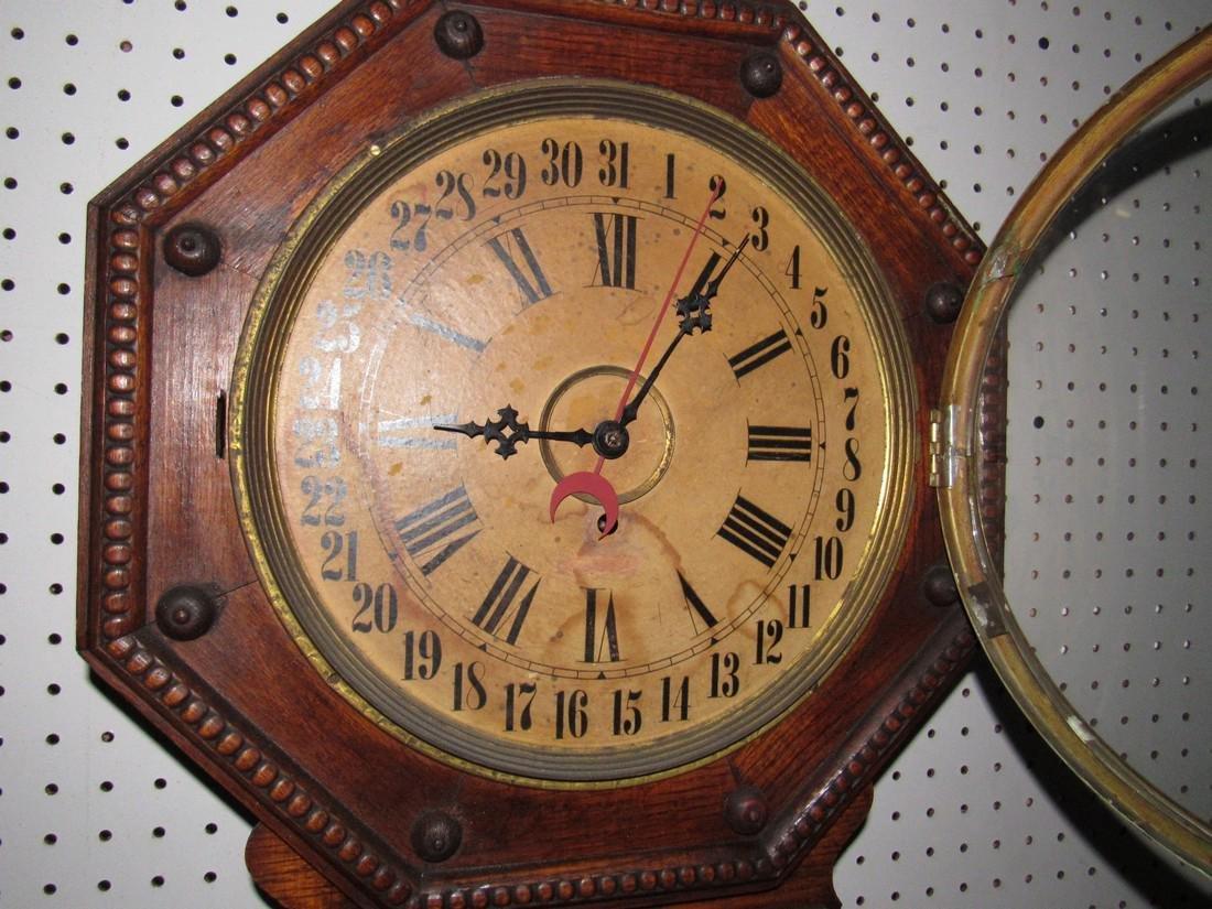 Wilham & Gilbert Regulator Calendar Clock - 2