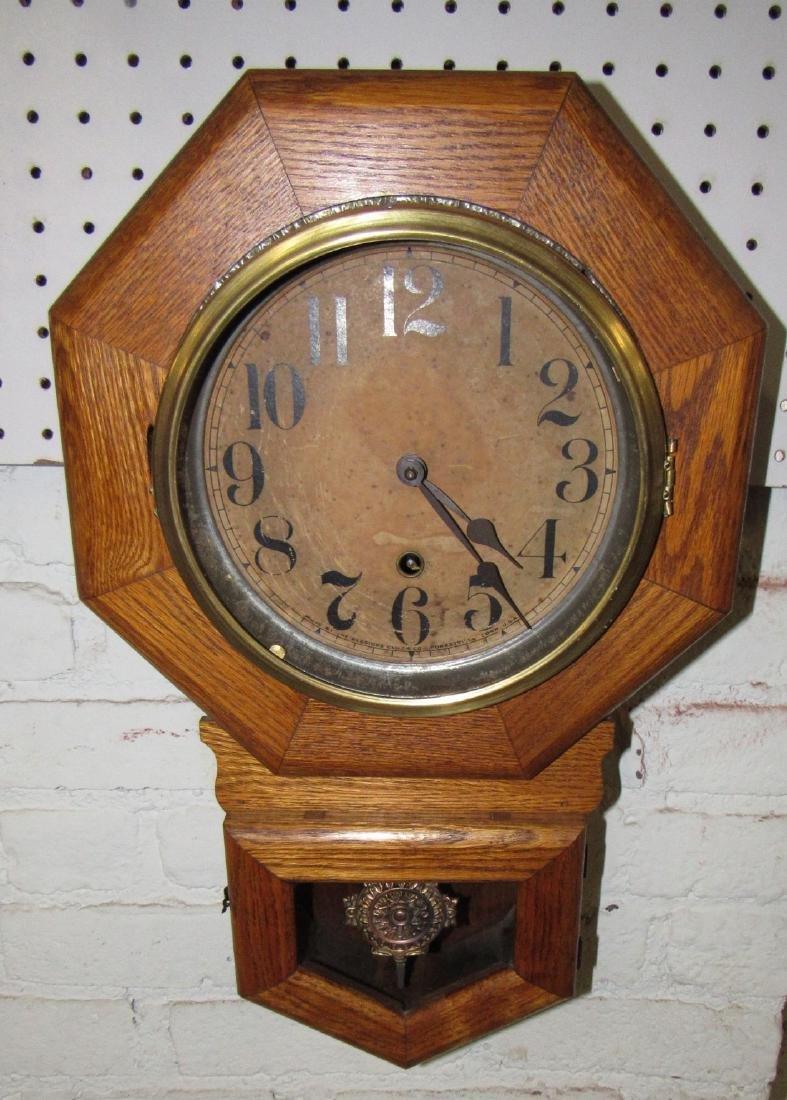 Sessions Short Drop Octogon Regulator Clock