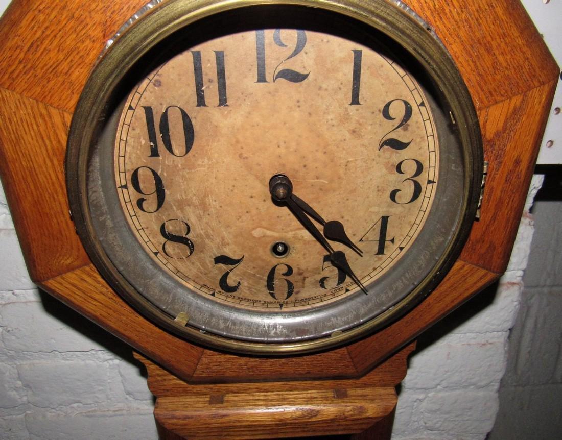 Sessions Short Drop Octogon Regulator Clock - 2