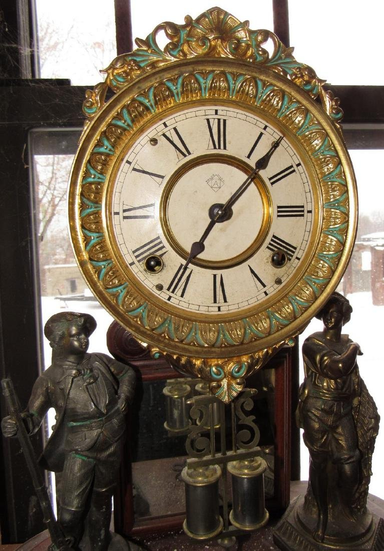 Ansonia Figural Clock - 2