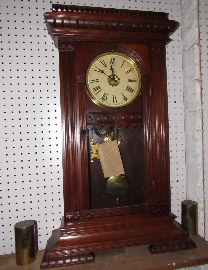 Antique Waterbury Weight Driven Clock