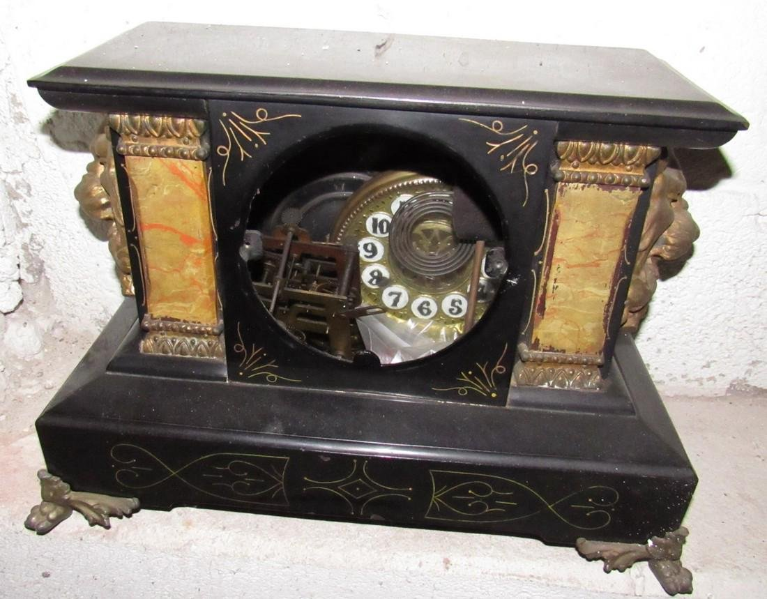 Antique Mantle Clock for Parts or Repair