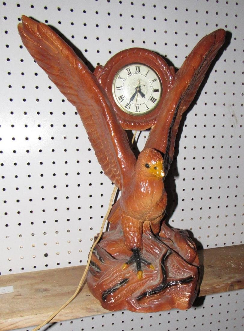 Plaster Lanshire Eagle Clock