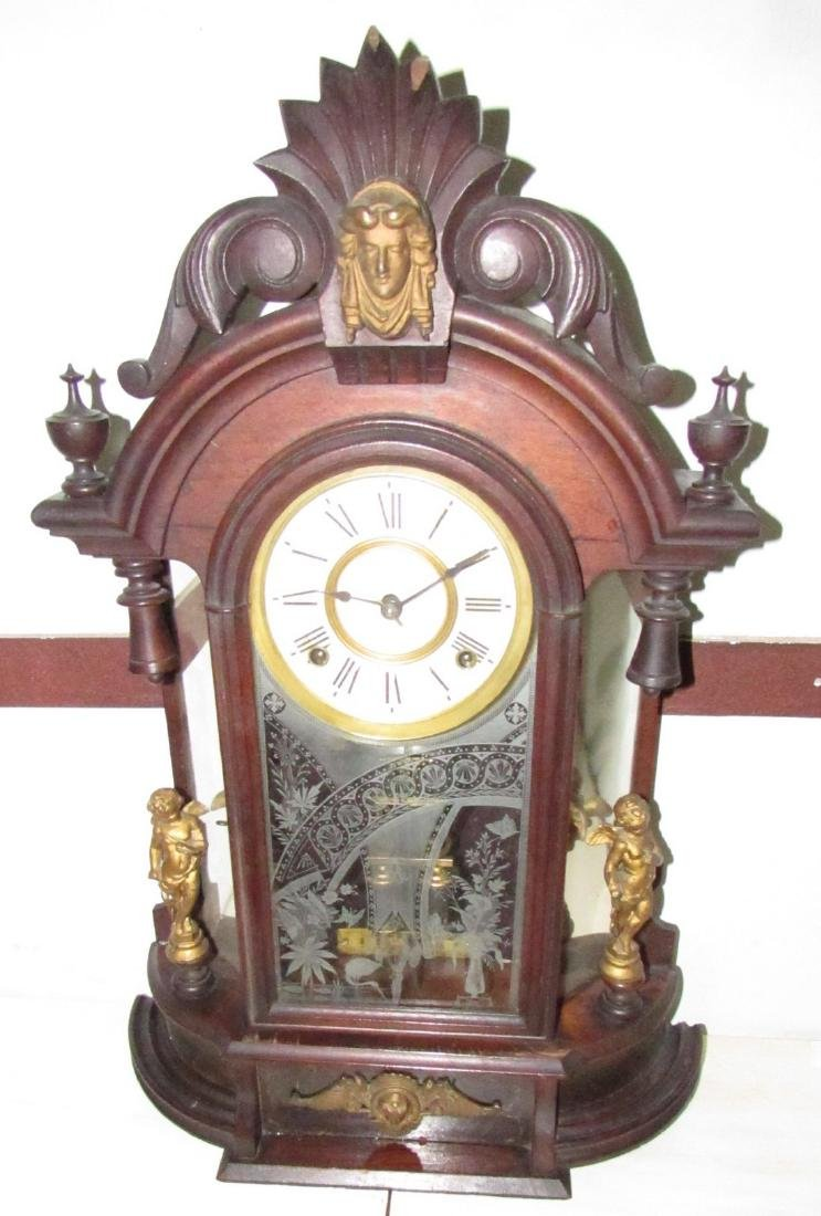 Antique Figural Mantle Clock