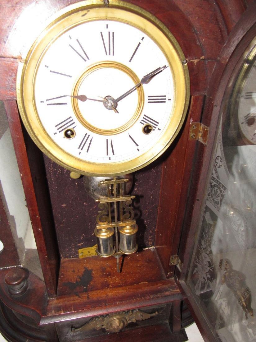 Antique Figural Mantle Clock - 2